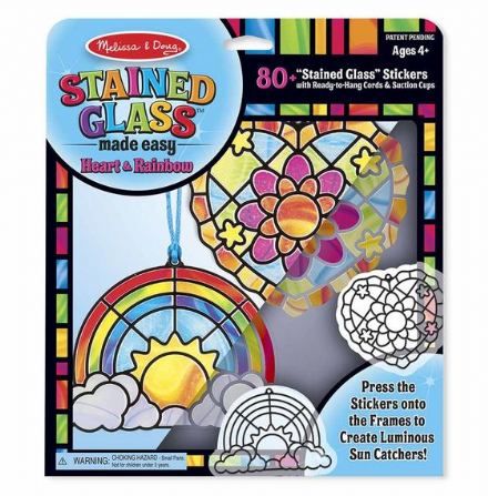 Melissa & Doug Stained Glass Art - Heart and Rainbow